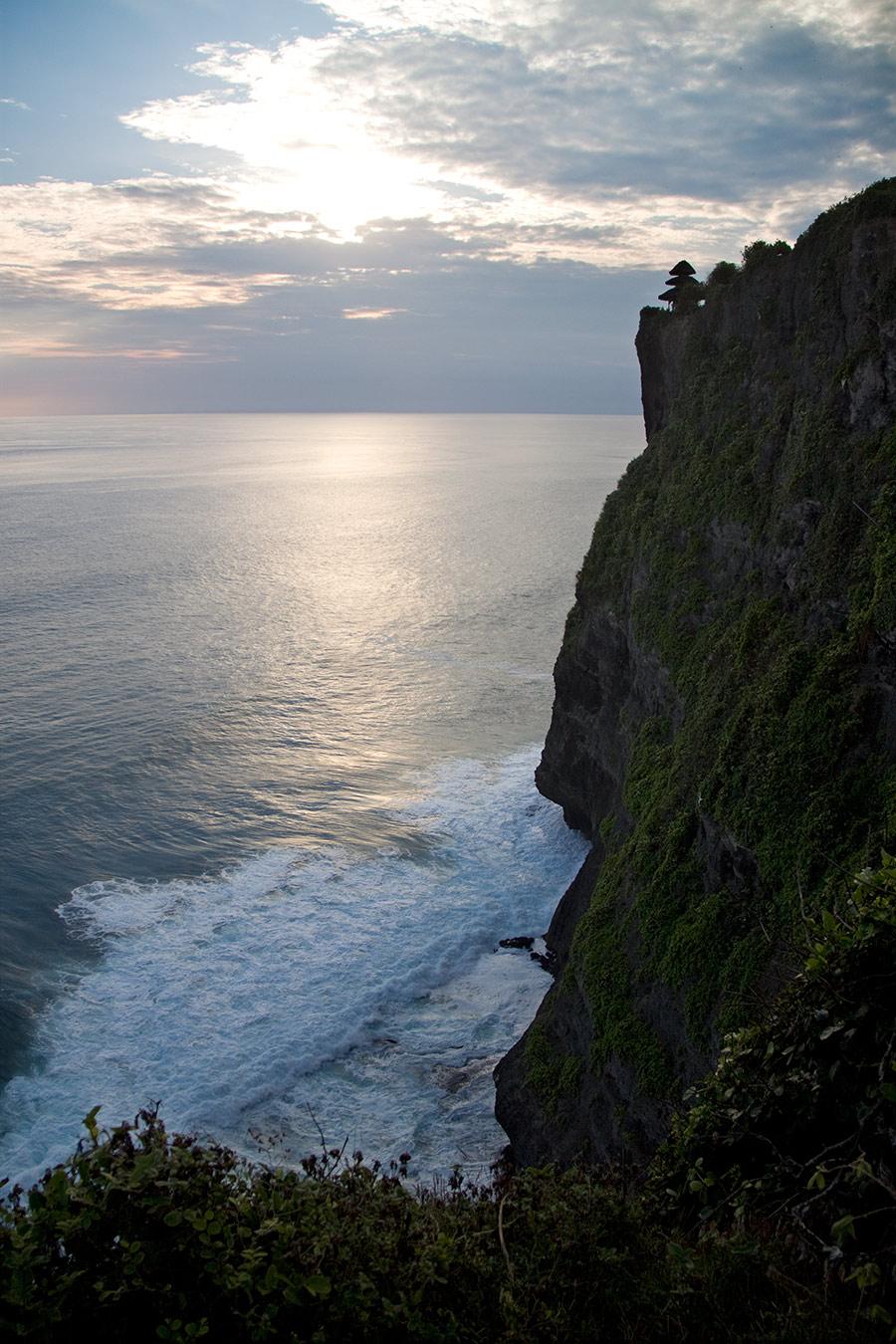 A temple on a cliff in Uluwatu, Bali.