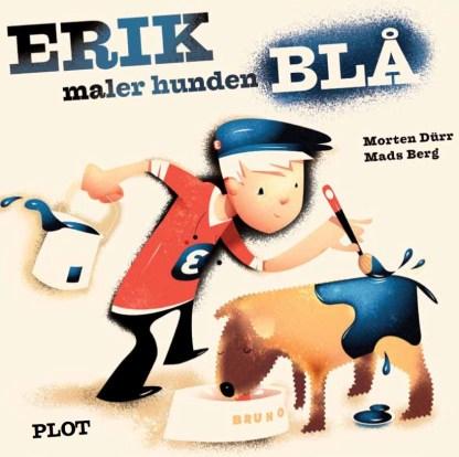 Erik maler hunden blå