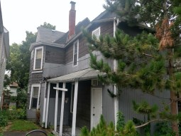 back and side of house