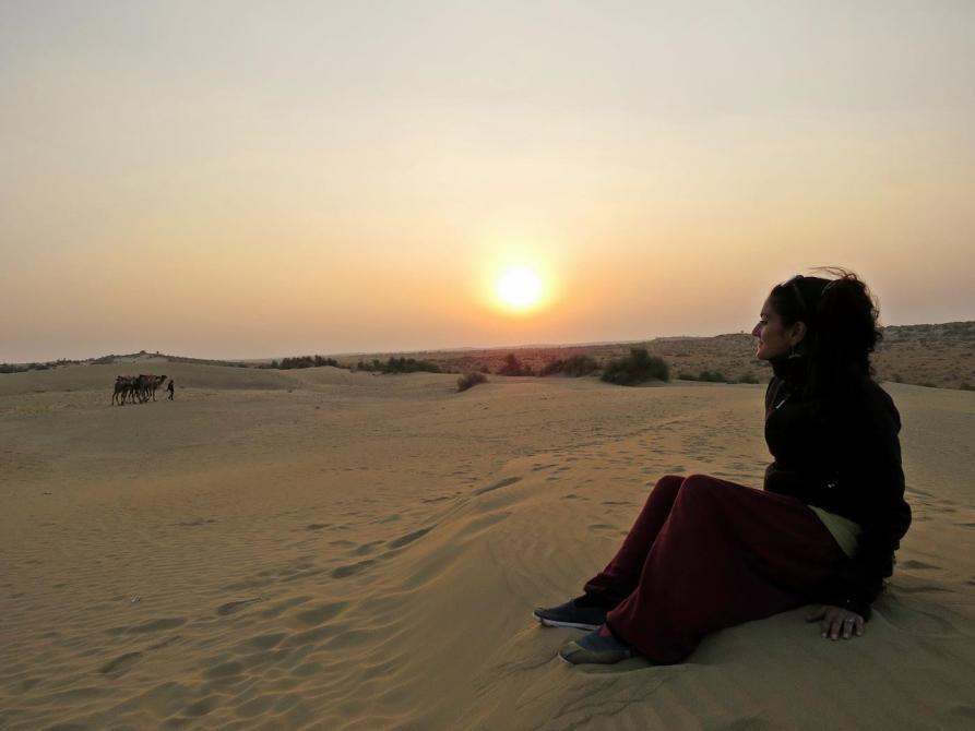Sonnenuntergang über der Thar