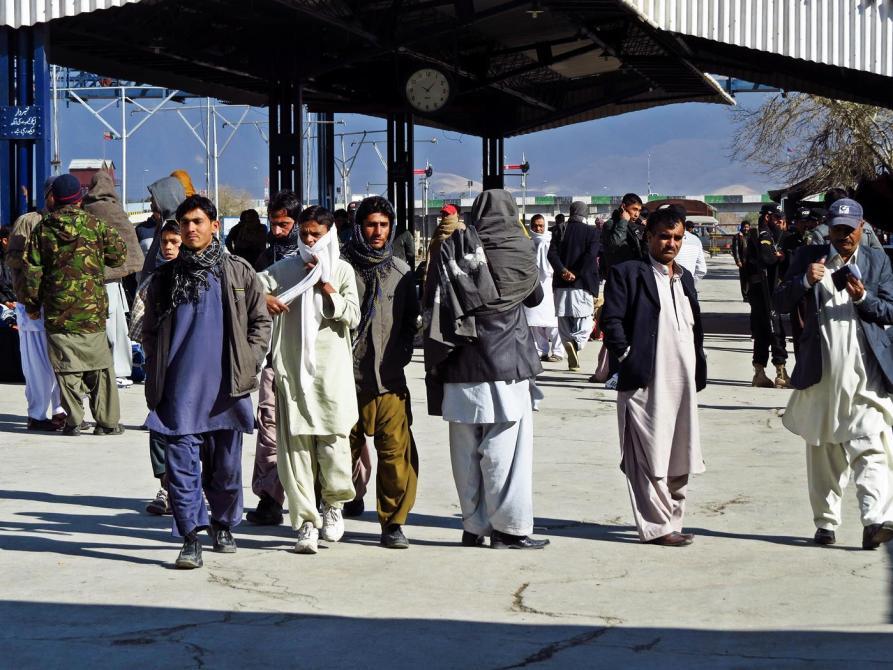 am Bahnsteig in Quetta, Pakistan