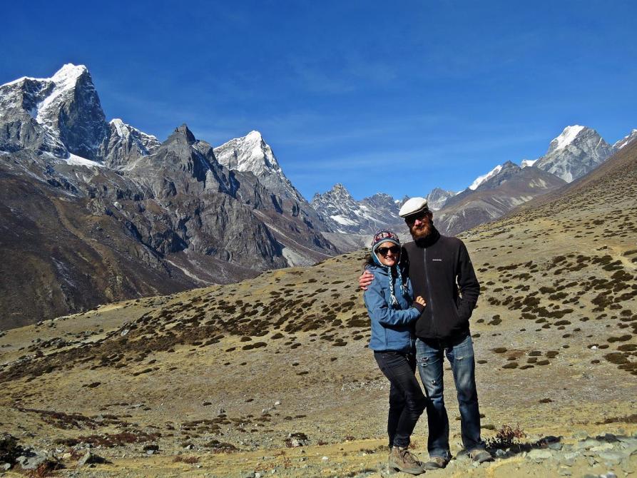 Bergpanorama, Taboche, Cholatse