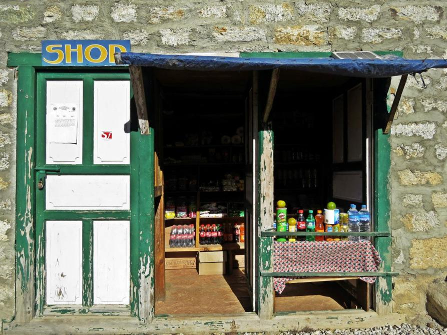 Kiosk am Wegrand, Himalaja