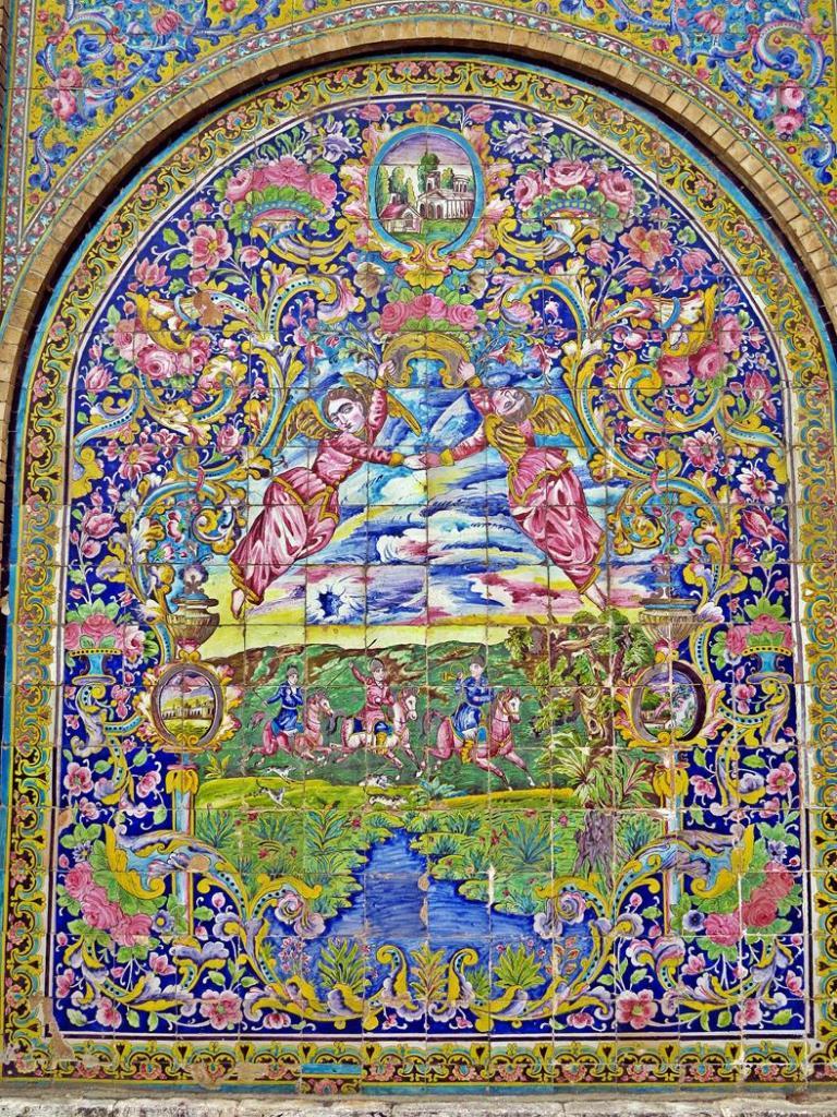 Wandbild an der Fassade des Golestan Palastes