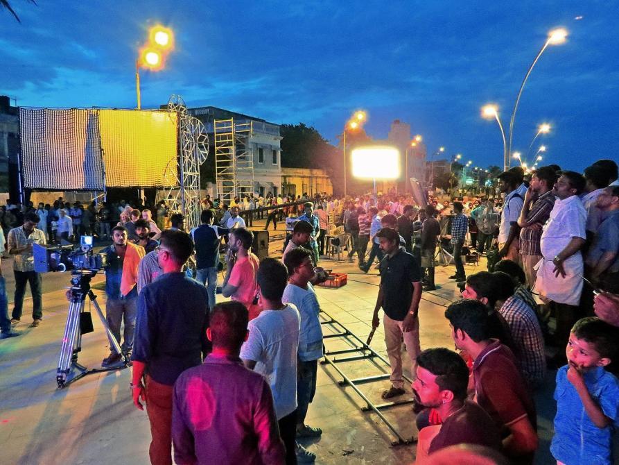 Filmset in Pondicherry, Kollywood
