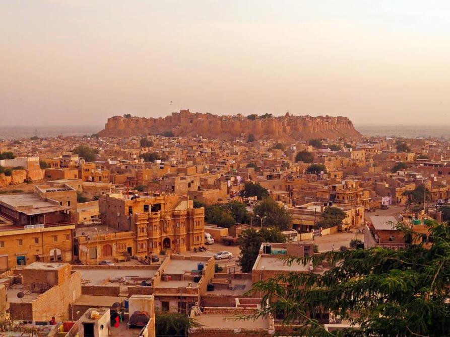 Blick über Jaiselmer, Rajasthan