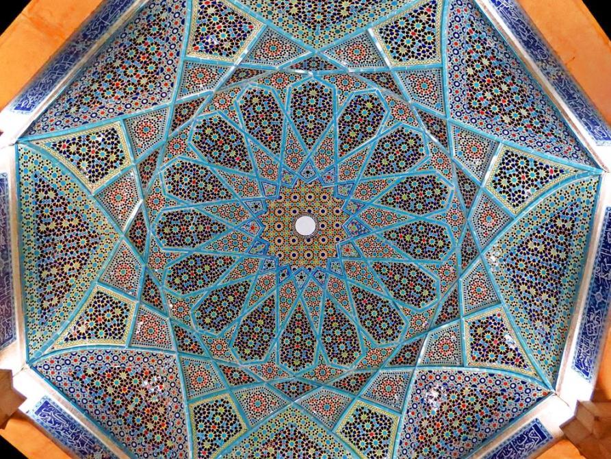 Mosaik über der Grabstätte des berühmtesten persischen Poeten Hafez