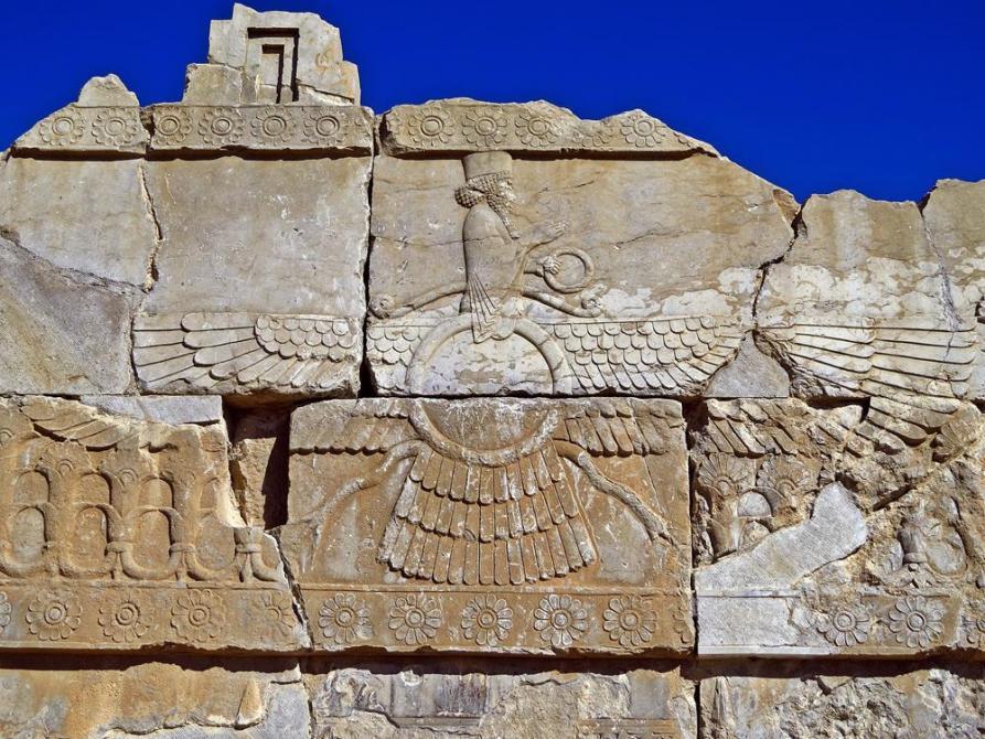Symbol des Zoroastrismus, Persepolis, Iran