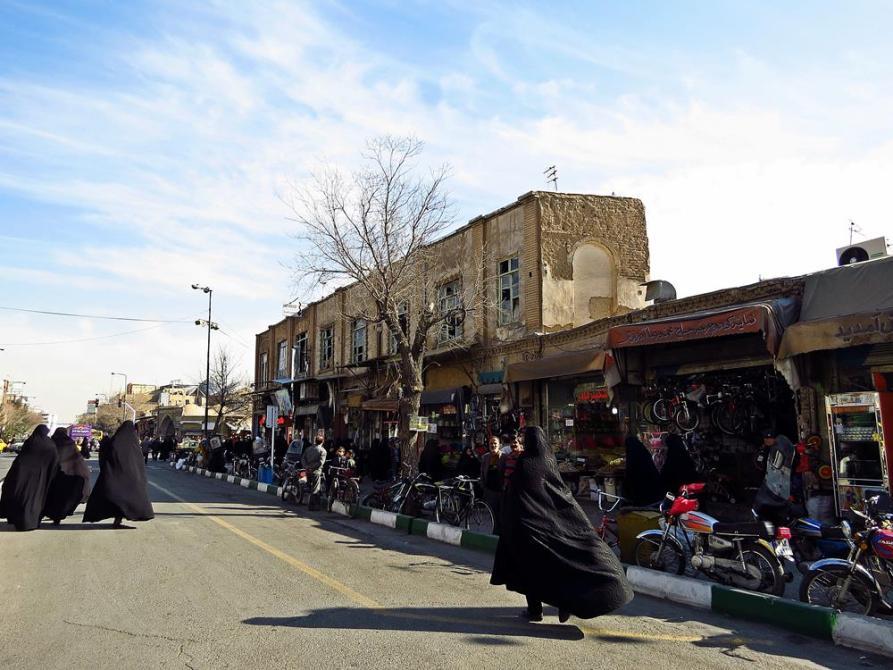 Straßenszene in Ghom