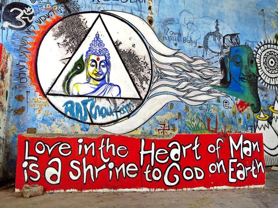 Indien, Kuriositäten, Grafittis