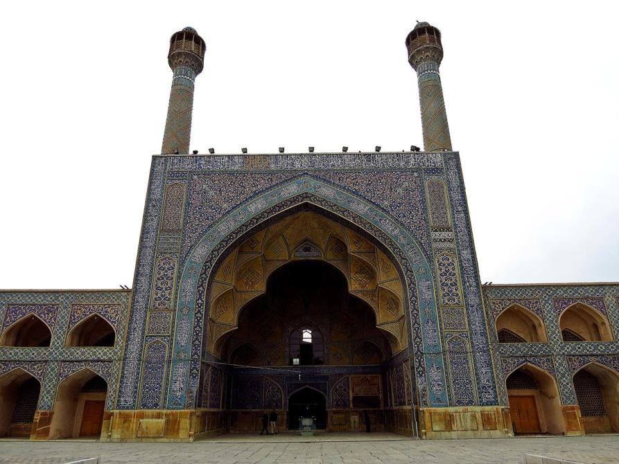 Minarette der Freitagsmoschee in Isfahan, Isfahan, Iran