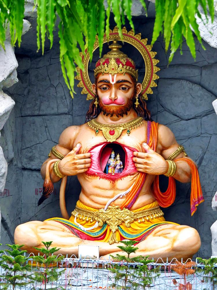Hanuman, Rishikesh, Indien
