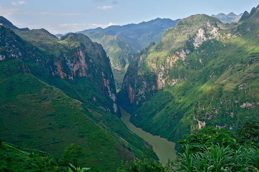 Schlucht entlang dem Ha Giang Loop
