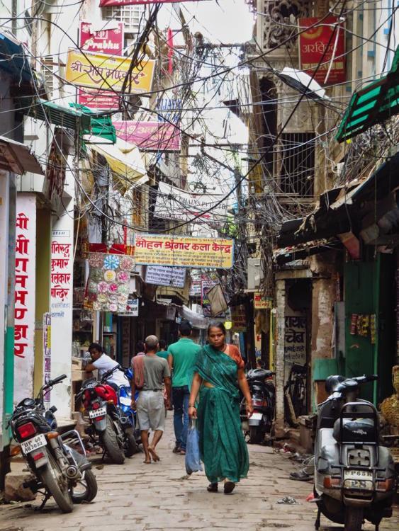 Altstadtgasse in Varanasi