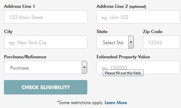 appraisal waiver pre-check