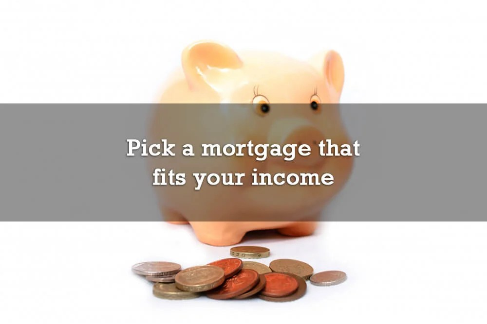 Pick a mortgage that fits your income