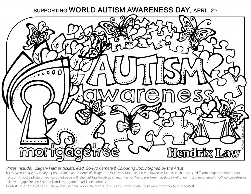 Autism Awareness Colouring Contest