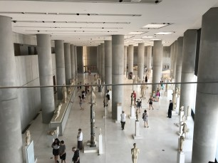 Selection of statues in the Acropolis Museum.