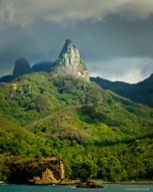 Basaltic spires on Ua Poa