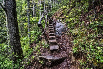 Stairs, Path to Waterfall, Tremont