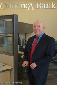 Comerica Bank manager photographed by William Morton Visuals