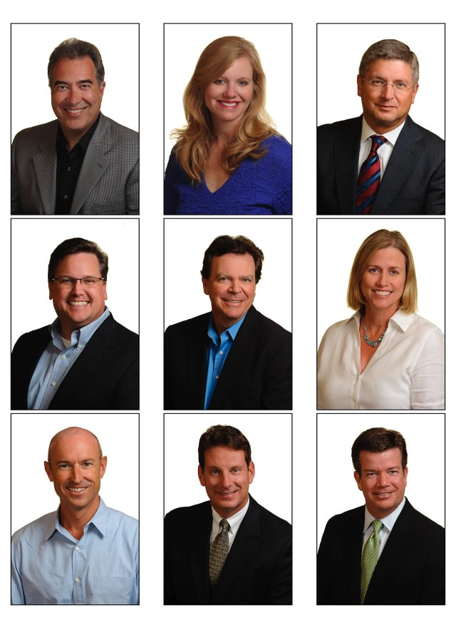 business headshots of the entire team