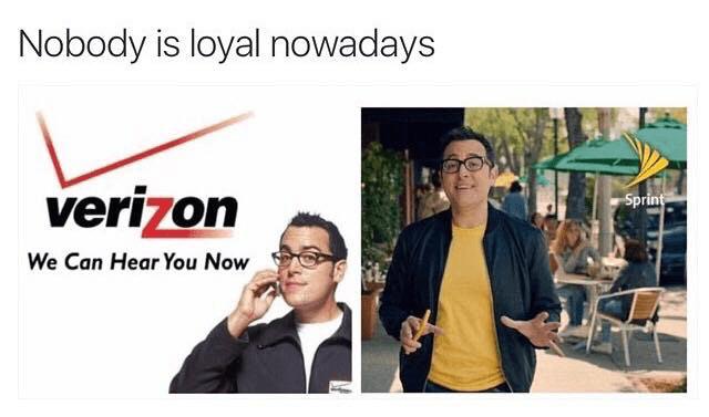 The Verizon guy goes to Sprint