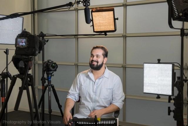 video interview in the studio