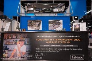 Tobin Ellis' Signature Cocktail Station display by Perlick for NAFEM