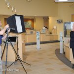 Photo setup for bank executive photography