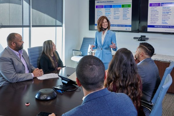corporate staff meeting