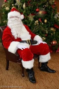 Santa is ready to greet children at the Omni San Diego