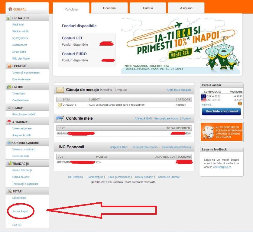 ING Home Bank Acces Rapind cu parola (1)