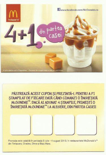 Promotie McDonalds inghetata