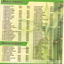 MENIU - Restaurant chinezesc oradea - Asia Gourmet
