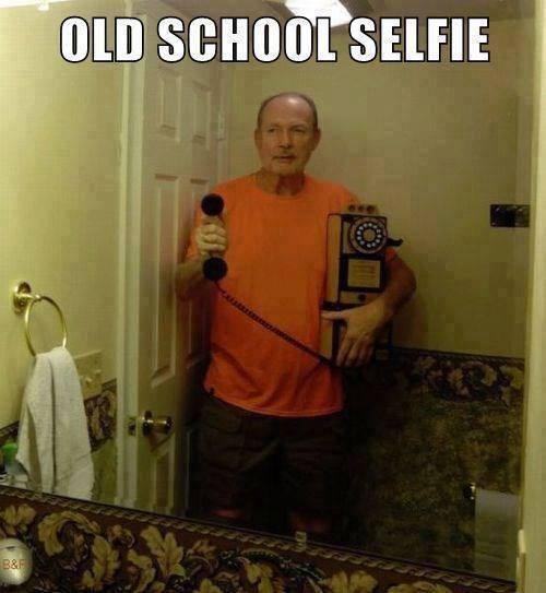 Old School Selfie