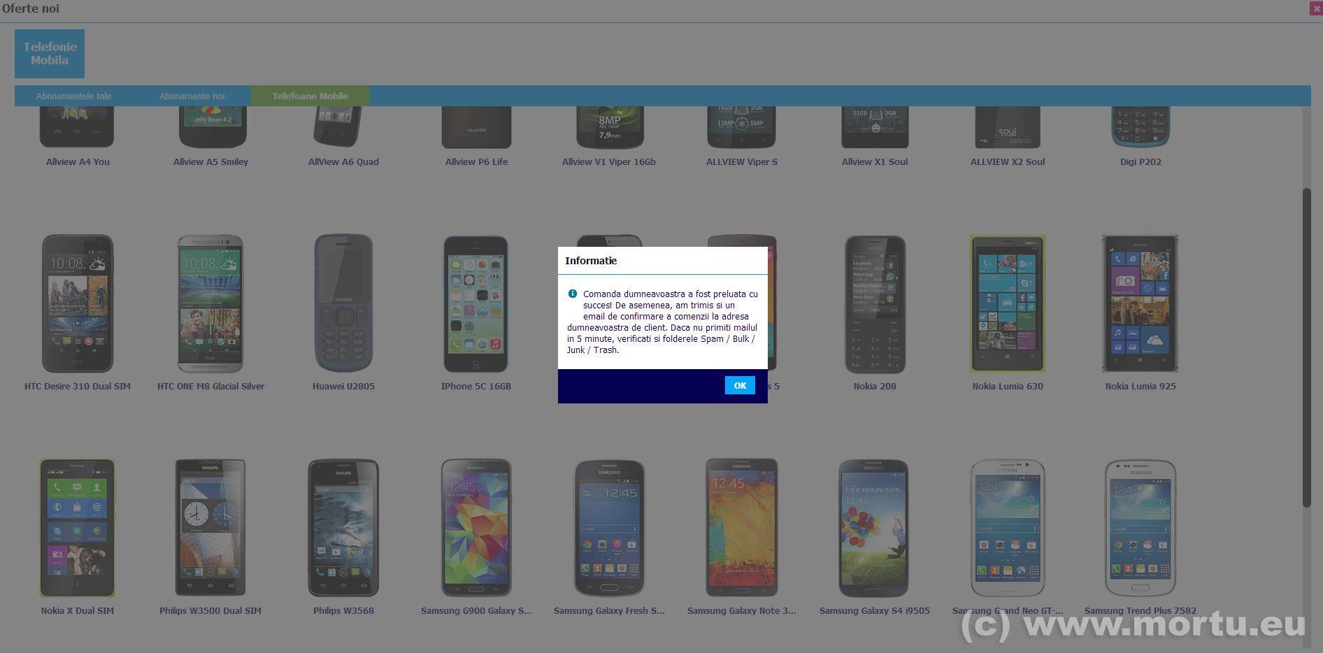 Comanda telefoane online RCS RDS - Comanda telefon 3