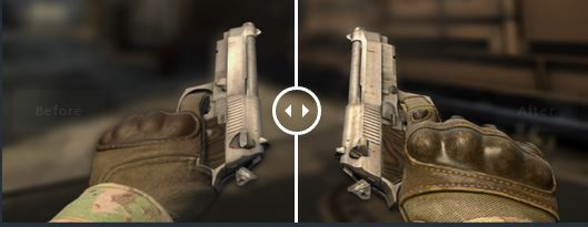 csgo gloves before after