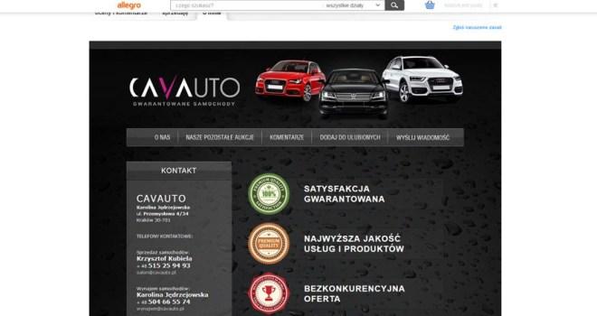 Szablon Allegro dla firmy Cavauto
