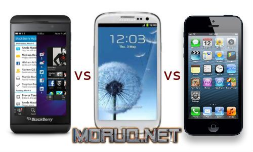 BlackBerry Z10 vs Samsung Galaxy S3 vs iPhone5