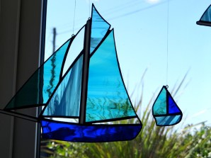 Debbie Martin: hanging glass fishing boat
