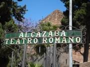 Sign for the Alcazaba and Teatro Romano, Mlaga