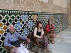 Admiring the Palaces at the Alhambra
