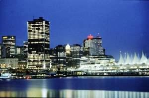 Vancouver portowy terminal pasażerski i Down Town