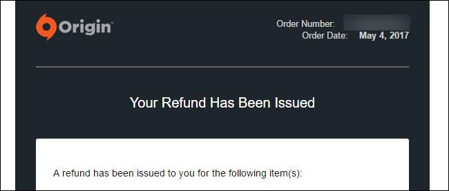 如何獲得EA Origin游戲的退款   MOS86
