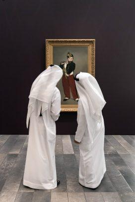 "Devant "" Le fifre "" d'Edouard Manet. OPENING Louvre Abu Dhabi on november 8, 2017."