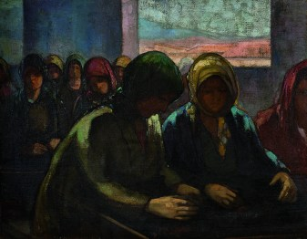 Theophrastos Triantaphyllidis Raisin workers 1920-25 Oil on canvas Bank of Greece Art Collection