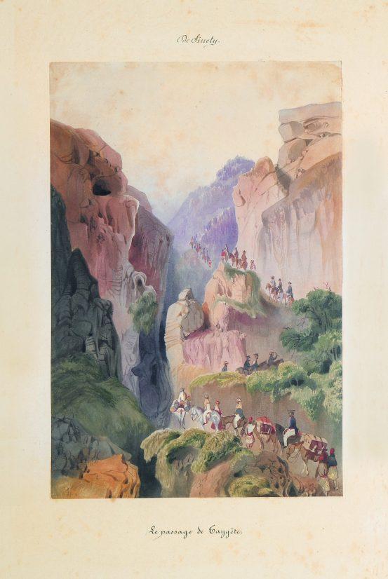 Ascent of Mount Targetos. 1845.