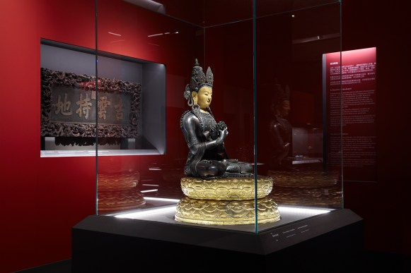 Bronze statuette of Vajradhara Qing Dynasty, Qianlong Reign (1735 – 1796) © Acropolis Museum. Photo Giorgos Vitsaropoulos