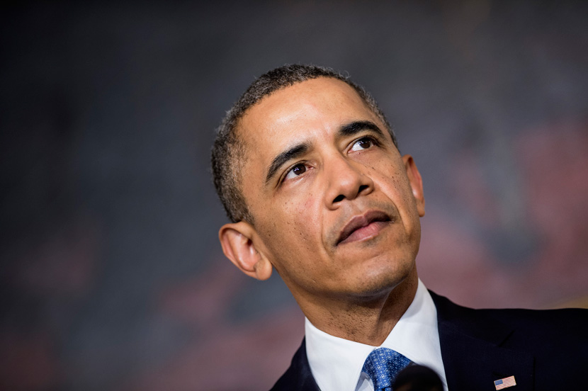 President Barack Obama makes a statement about Iran's nuclear program in November 2013.  BRENDAN SMIALOWSKI/AFP/Getty Images.